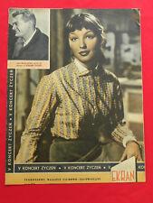 MARINA VLADY cover mag polonais EKRAN 1958 POLAND Brigitte Bardot MASTROIANNI