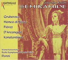 ROSSINI: SEMIRAMIDE Edita Gruberova, di Nissa, Marcello Panni, 3 CDs, sehr gut