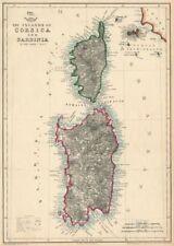 'The Islands of Corsica & Sardinia'. Elba. JOHN DOWER. Dispatch Atlas 1863 map