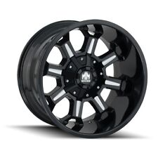 "20"" Mayhem Combat 8105 Black Milled Wheel 20x12 6x135 6x5.5 -44mm Lifted 6 Lug"