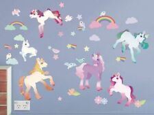 Unicorn Wall Stickers / Decors, Removable Fabric Stickers