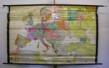 Schulwandkarte alte Schulkarte Europa im 15.jahrhundert 202x129cm ~1960 Europe