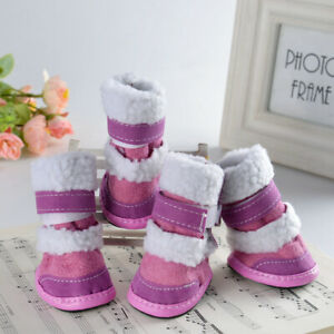 Winter Small Dog Boots Anti-Slip Puppy Shoes Pet Protective Cashmere Snow Boot