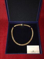 Stunning Swarovski Crystal Gold Stardust Necklace New in Box!
