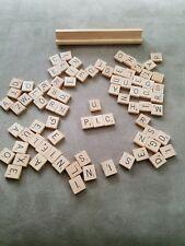 INDIVIDUAL WOOD SCRABBLE TILES: LETTER A-Z Game Pieces Crafts Alphabet Tile u pk