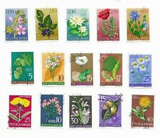 YUGOSLAVIA , various Flowers issues (15) Used