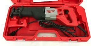 Milwaukee 6519-31 Corded Reciprocating Saw Sawzall Heavy Duty Case LN M