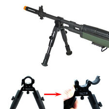"Adjustable 8""-10"" Barrel Clamp On Flodable Extend Leg Spring Return Metal Bipod"