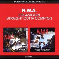 N.W.A. Efil4Zaggin/Straight Outta Compton 2CD BRAND NEW NWA Hip Hop Niggaz4Life