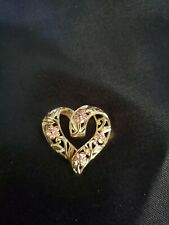 14k Yellow Rose Gold Heart Roses Offers