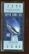 1987 Super Bowl 21 New York Giants Beat Denver Broncos Ticket Paperweight MINT
