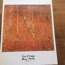 Vintage Unframed Poster Print Gustav Klimt Birch Forest Bridgeman Art Library