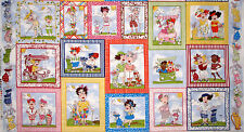 """Loralie Lady Golfers Fabric Loralie Harris You Golf Sport TRIMMED INTO 23"""" PANEL"""