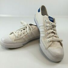 Adidas Men's White Canvas Tennis / Court Shoes, Sneakers Size Aus 9