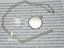 Jewellery making kit glass dome pendant make your own picture necklace silver