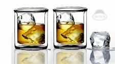Whiskey Glass Set Drinking Cups 2 Pack Double Wall Manhattan Style Kitchen
