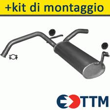 CITROEN C1 HATCHBACK 1.0 68HP 2005-2009 Silenziatore Marmitta Posteriore+