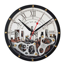 Automaton Los Angeles HANDCRAFTED moving gears unique steampunk wall clock