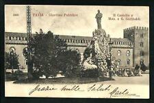 Pavia : Giardino Pubblico - cartolina viaggiata primi '900 per Montebello
