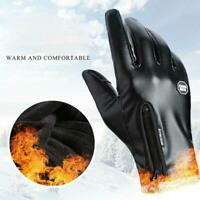 Mens Leather Gloves Real Soft Fleece Lined Winter Casual Driving Warm W2O5