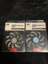 Cooler Master SickleFlow 120 - Sleeve Bearing 120mm Red LED Silent Fan*LOT OF 2*
