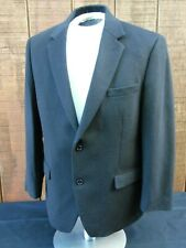 Michael Kors Men's 42R Sport Coat Jacket 100% Camel Hair 2 Button Black Blazer