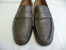 BALLY Vintage Mens Shoes Brown Loafers Size 9.5EEE Moc Toe Switzerland Leather