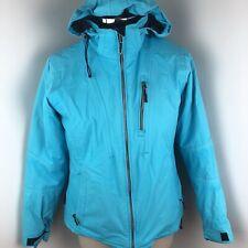 Obermeyer Womens Sz 12 Ski Snowboard Jacket Coat Insulated Turquoise Blue Jacket
