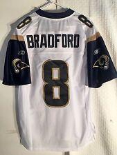 Reebok Premier NFL Jersey St. Louis Rams Sam Bradford White sz M