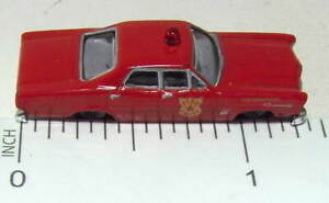 N Scale Ford Fire Chief's Car