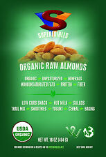 Organic Raw Almonds - 1 Pound Resealable Stand Up Pouch $16.99