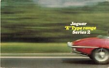 Jaguar E Type 4.2 Series 2 1968-71 UK Market Foldout Brochure Roadster Coupe 2+2