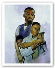 Father and Sons Sherman Edwards African American Art Print 11x14