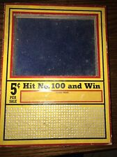 Vintage Punch Board 5 Cent 600 Hole Illegal Gambling