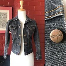 Vintage 1960's 1970's Wrangler Black Jean Cropped Jacket Xs S