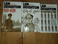 len deighton x3 ss gb city of gold declarations of war