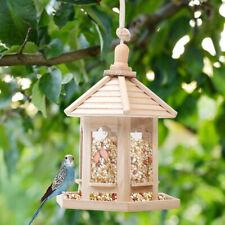 Mangiatoia per Uccelli Vassoio Set Rimovibile con Fori di Drenaggio Forma Casa🔥