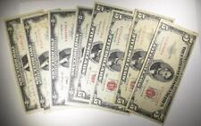 Currency Lot: (4) $5.00 & (4) $2.00 Red Seals Lot 442