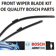 Fiat Punto Front Windscreen Wiper Blade Blades Set 2012 Onwards BOSCH AEROTWIN