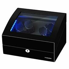 Quiet Mabuchi Motor - 21 Black(Led) 4+6 Automatic Watch Winder Case with