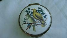 Vintage Halcyon Days Enamels Two Birds Trinket Box