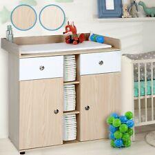 Commode table À langer avec tiroirs Placards couleur Hêtre Bébé enfant
