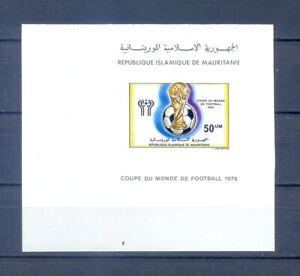 MAURITANIA  1978 FOOTBALL      PROOF   MNH.RRRR