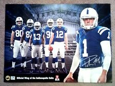 INDIANAPOLIS COLTS 2014 STARS POSTER - PAT MCAFEE, LUCK, HILTON, MORE - MINT!