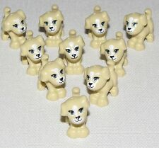 LEGO LOT OF 10 NEW TAN PUPPIES DOGS PETS TOWN CITY GIRL BOY ANIMALS