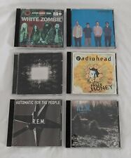 90's Rock Alternative Cd Mixed Lot R.E.M. Tool Radiohead Weezer White Zombie