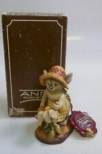 """1985 Anri """"Green Thumb"""" Sarah Kay 3"""" Figurine - Mint In Box"""