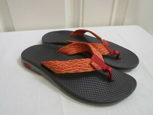 CHACO ECOTREAD 7 Orange Southwest Water Sport Trail Flip Flops Sandals Thongs