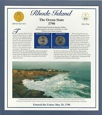 2001 RHODE ISLAND STATE QUARTERS & STAMPS PANEL...POSTAL COMMEMORATIVE SOCIETY