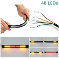 Flexible Universal Indicator Light LED Tail Brake Motorcycle Turn Signal 48SMD